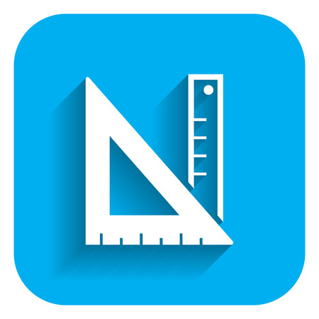 draftsman: Icon of ruler and set square