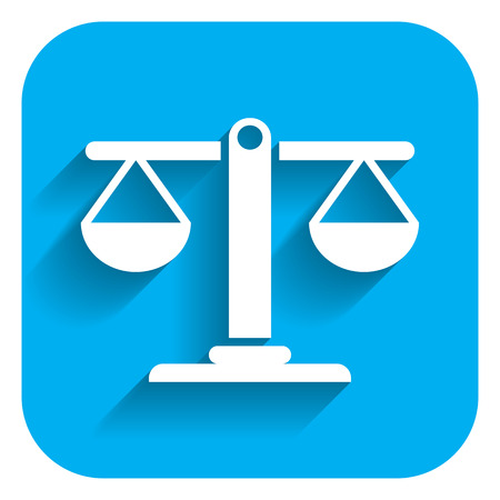 justice court: Icon of balanced scales Illustration