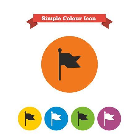 fluttering: Icon of fluttering flag Illustration