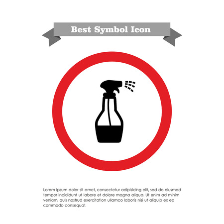 washing windows: Icon of spray bottle with cleaning liquid Illustration