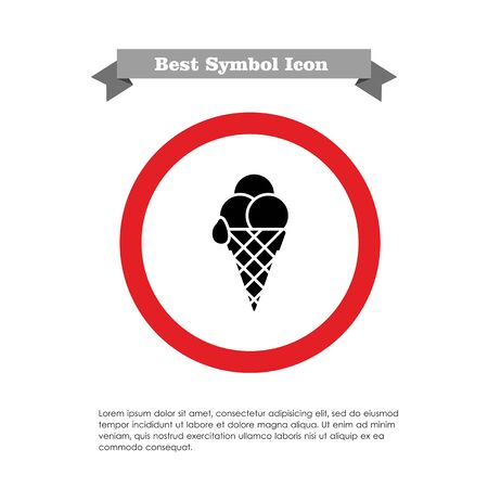 waffle: Icon of ice cream balls in waffle cone