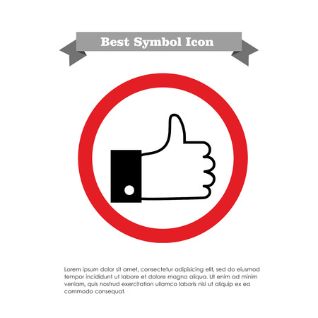 hand silhouette: Icon of thumb up sign Illustration