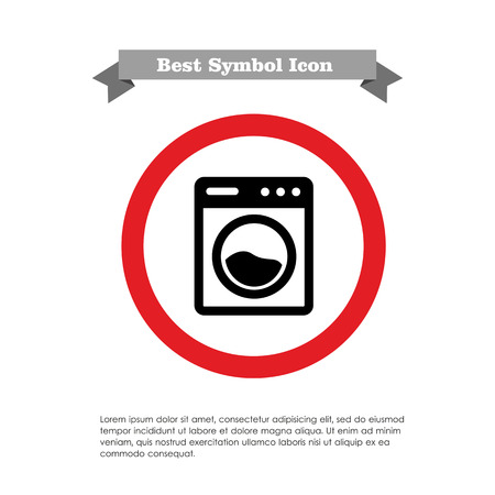 rinsing: Washing machine icon Illustration