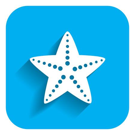 stella marina: Icona Starfish Vettoriali