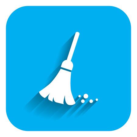 sweeping: Sweeping broom icon
