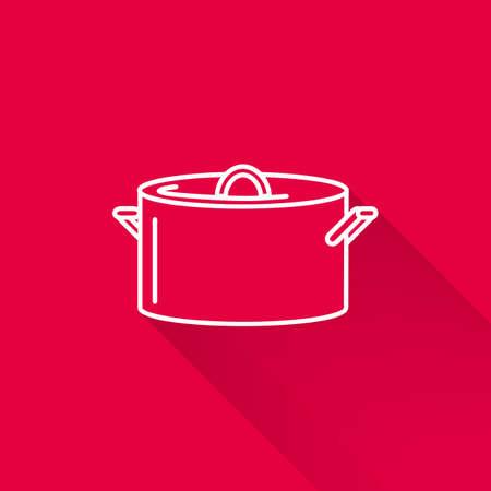 saucepan: Icon of saucepan with cover