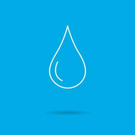 liquid: Icon of liquid drop Illustration