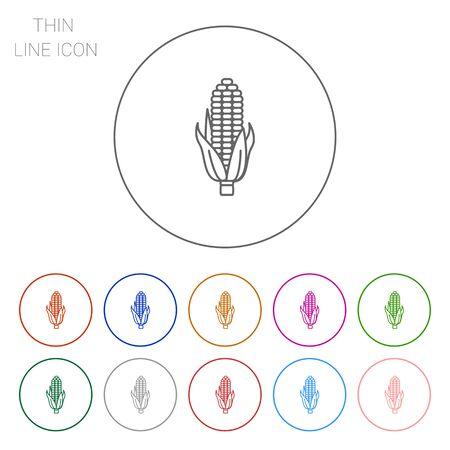 elote: Icono de la mazorca de ma�z Vectores