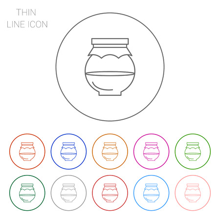 glass half full: Icon of half full jar with paper cover Illustration