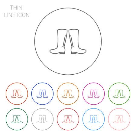 rubberboots: Gummistiefel icon Illustration