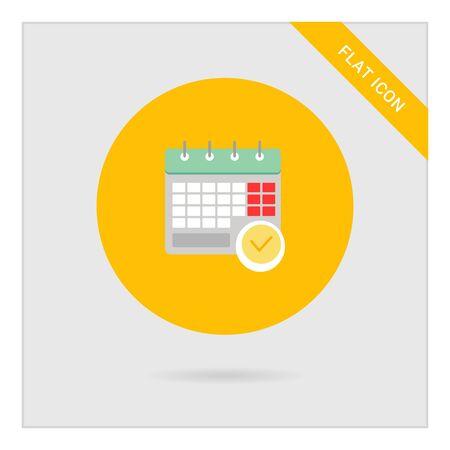 tick mark: Icono de la p�gina del calendario con la marca de la se�al
