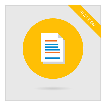 folded: Icon of text document with folded corner