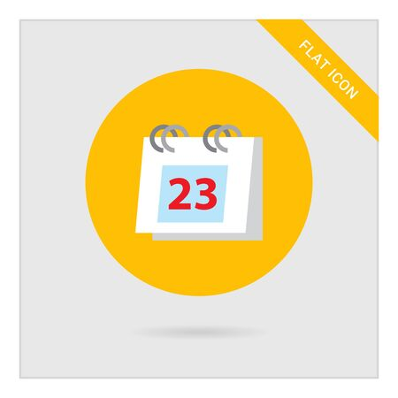 calendar page: Icon of flip calendar page with date