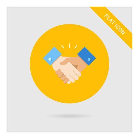 handshake: Icono del signo de apret�n de manos