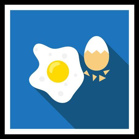 яичная скорлупа: Икона жареным яйцом и вареное яйцо с половиной очищенные скорлупы