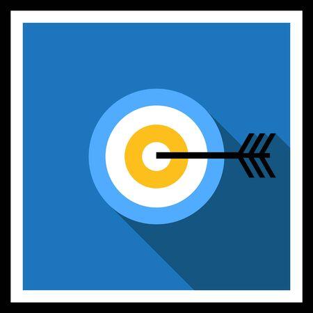 golpeando: Icono de la diana de dardos bateo Vectores