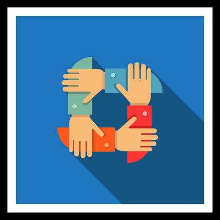 mani incrociate: Icona di mano d'uomo ha attraversato insieme