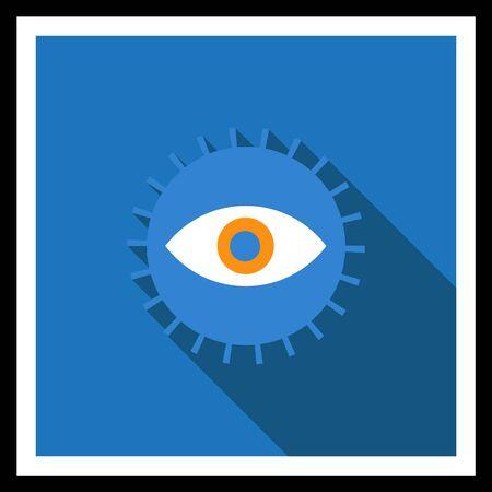 reviser: Ic�ne de l'oeil humain ouvert dans le cercle