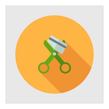 scissors icon: Icon of scissors cutting credit card