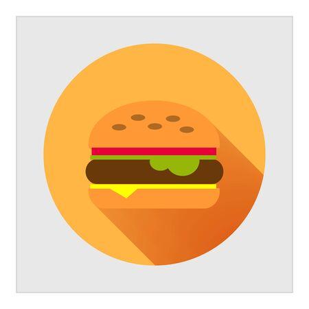 sandwich restaurant: Burger icon Illustration