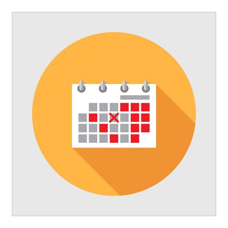 Icon of flip calendar page with crossed date