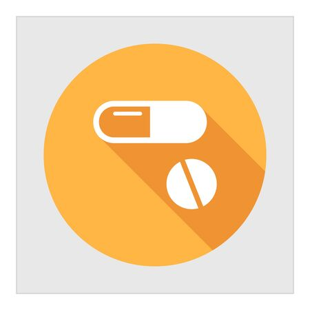 pills: Icon of capsule and pill