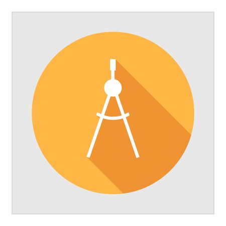 compasses: Icon of drawing compasses in circle