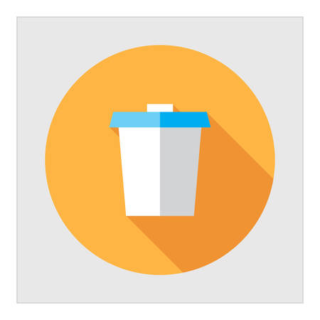 morning walk: Disposable cup icon Illustration