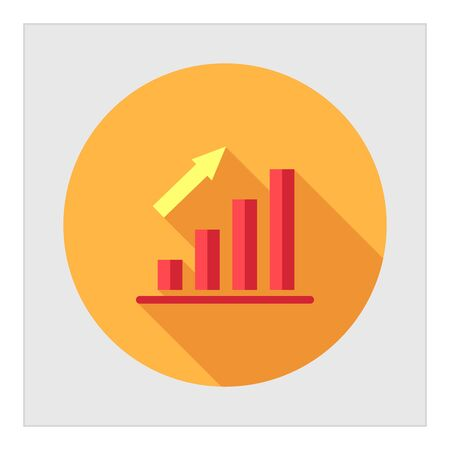 bar chart: Icon of growing bar chart Illustration