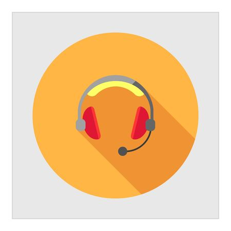 call center headset: Headset icon Illustration