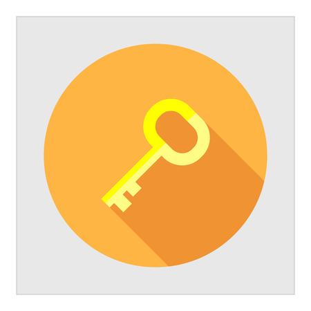 mortgage: Icon of door key in circle