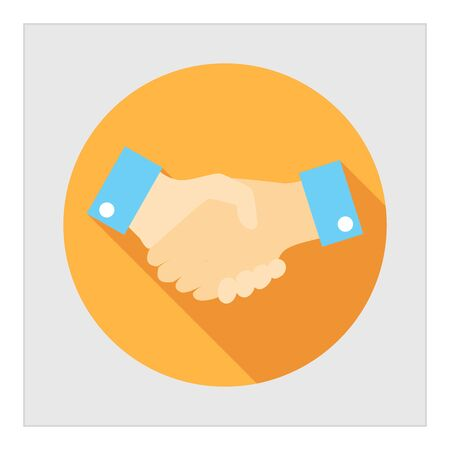 business people shaking hands: Icon of handshake sign Illustration