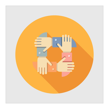 group icon: Icon of mens hands crossed together
