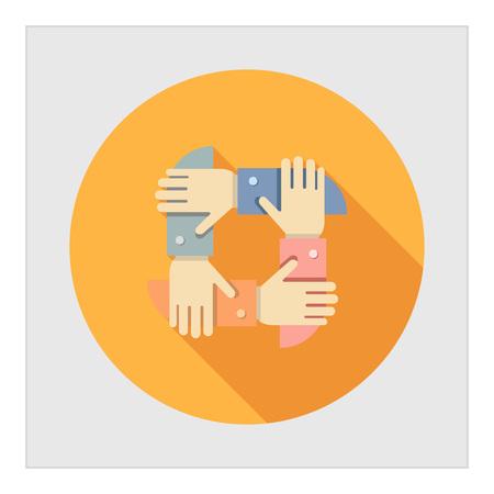 symbol hand: Icon von Menschenh�nden zusammen gekreuzt