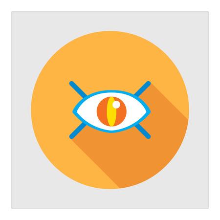 ojo humano: Icono del ojo humano abierto con pesta�as