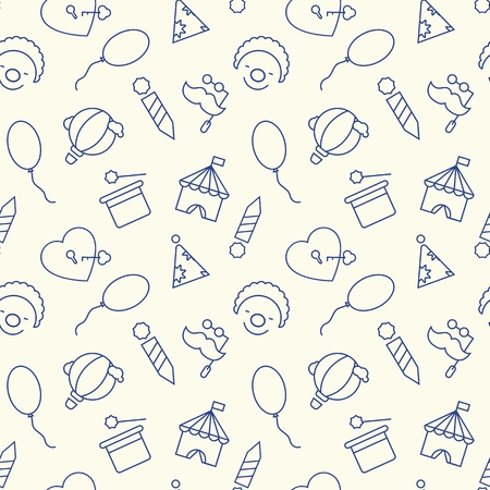 Seamless pattern with children party concept