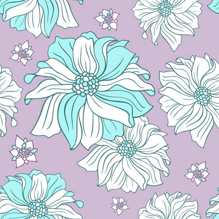 delicate: Delicate floral seamless pattern