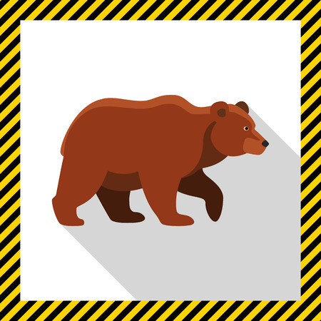 brown: Icon of brown bear