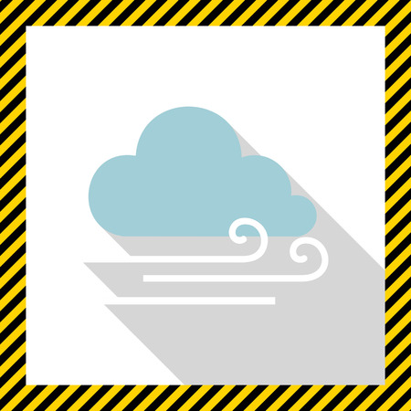 wind: Icon of cloud and slight wind sign Illustration