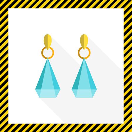 gemstones: Icon of earrings with gemstones