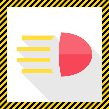 signaling: Icon of high beam sign