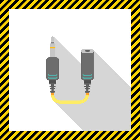 female connector: Icon of jack extender Illustration