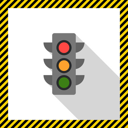 traffic: Traffic light icon