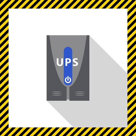 Icon of uninterruptible power supply Illustration