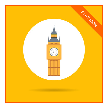 palace of westminster: Icon of Big Ben tower Illustration