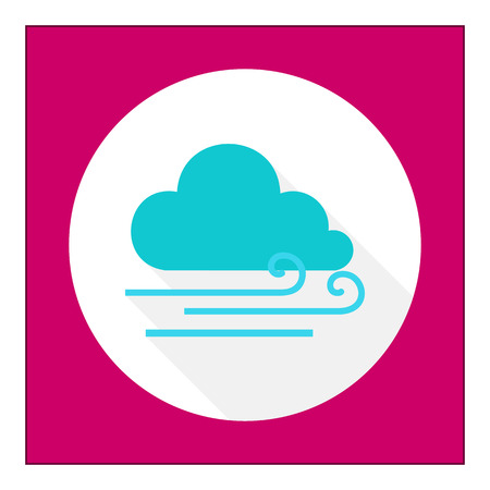 windy day: Icon of cloud and slight wind sign Illustration