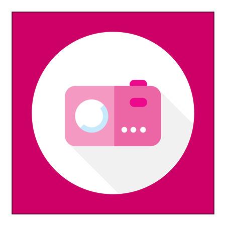 excursion: Icon of pink photocamera Illustration