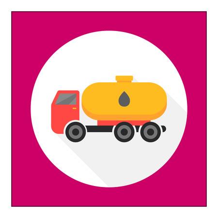 camión cisterna: Icono de camión cisterna