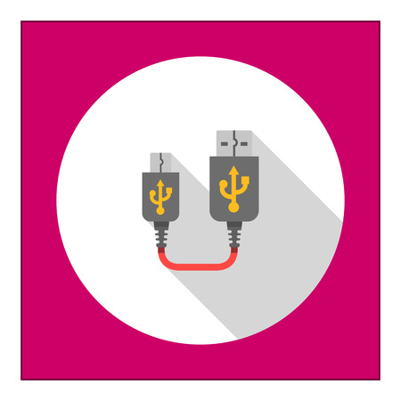 Icon of USB to mini USB cable