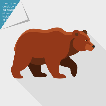 dangerous: Icon of brown bear